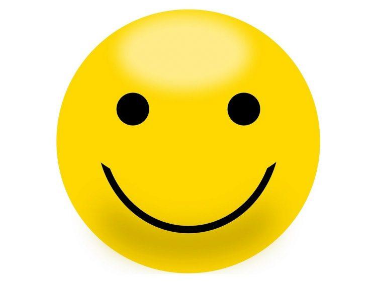 uśmiechnięta buzia - ilustracja